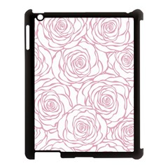 Pink Peonies Apple Ipad 3/4 Case (black) by 8fugoso