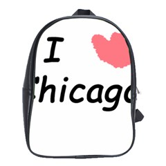 I Heart Chicago  School Bag (xl)