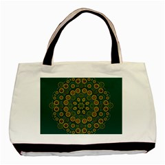 Snow Flower In A Calm Place Of Eternity And Peace Basic Tote Bag by pepitasart