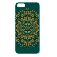 Snow Flower In A Calm Place Of Eternity And Peace Apple Seamless Iphone 5 Case (color) by pepitasart