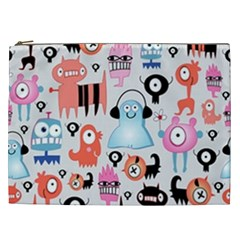 Funky Monsters Pattern Cosmetic Bag (xxl)  by allthingseveryday