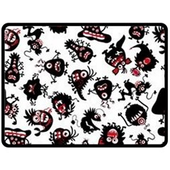 Goofy Monsters Pattern  Double Sided Fleece Blanket (large)  by allthingseveryday
