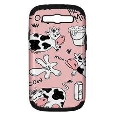 Fresh Milk Cow Pattern Samsung Galaxy S Iii Hardshell Case (pc+silicone) by allthingseveryday