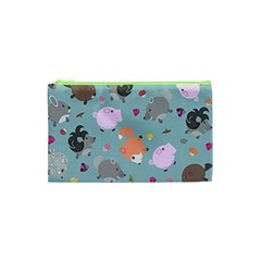 Little Round Animal Friends Cosmetic Bag (xs) by allthingseveryday