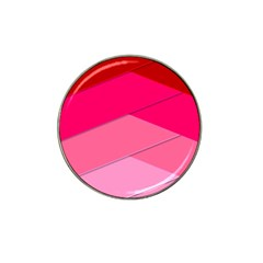 Geometric Shapes Magenta Pink Rose Hat Clip Ball Marker (4 Pack) by Celenk