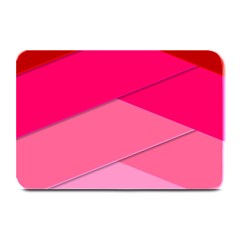 Geometric Shapes Magenta Pink Rose Plate Mats by Celenk