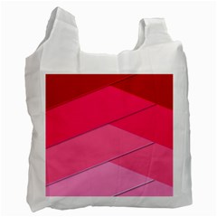 Geometric Shapes Magenta Pink Rose Recycle Bag (two Side)  by Celenk