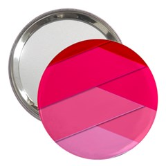 Geometric Shapes Magenta Pink Rose 3  Handbag Mirrors by Celenk