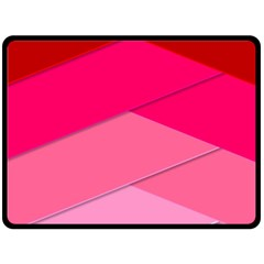 Geometric Shapes Magenta Pink Rose Double Sided Fleece Blanket (large)  by Celenk