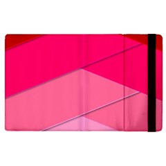 Geometric Shapes Magenta Pink Rose Apple Ipad Pro 9 7   Flip Case by Celenk