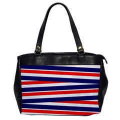 Red White Blue Patriotic Ribbons Office Handbags by Celenk