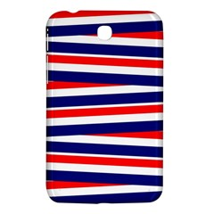 Red White Blue Patriotic Ribbons Samsung Galaxy Tab 3 (7 ) P3200 Hardshell Case  by Celenk