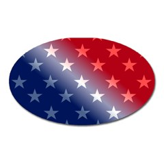 America Patriotic Red White Blue Oval Magnet by Celenk