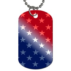 America Patriotic Red White Blue Dog Tag (two Sides) by Celenk