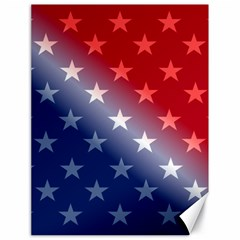 America Patriotic Red White Blue Canvas 18  X 24   by Celenk