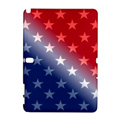 America Patriotic Red White Blue Galaxy Note 1 by Celenk