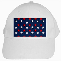 Patriotic Colors America Usa Red White Cap by Celenk