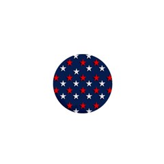 Patriotic Colors America Usa Red 1  Mini Buttons