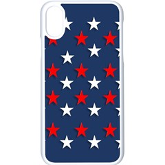Patriotic Colors America Usa Red Apple Iphone X Seamless Case (white) by Celenk