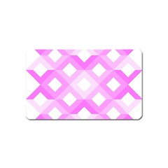 Geometric Chevrons Angles Pink Magnet (name Card) by Celenk