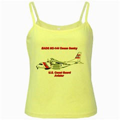 Eads Hc 144 Ocean Sentry Coast Guard Aviator  Yellow Spaghetti Tank by allthingseveryday