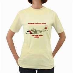 Eads Hc 144 Ocean Sentry Coast Guard Aviator  Women s Yellow T Shirt by allthingseveryday