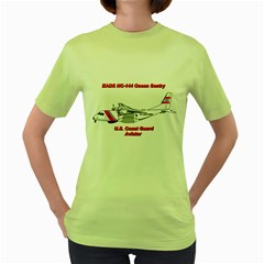 Eads Hc 144 Ocean Sentry Coast Guard Aviator  Women s Green T Shirt by allthingseveryday