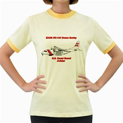 Eads Hc 144 Ocean Sentry Coast Guard Aviator  Women s Fitted Ringer T Shirts by allthingseveryday