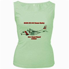 Eads Hc 144 Ocean Sentry Coast Guard Aviator  Women s Green Tank Top by allthingseveryday