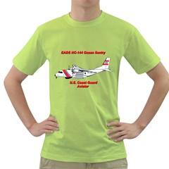 Eads Hc 144 Ocean Sentry Coast Guard Aviator  Green T Shirt by allthingseveryday