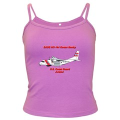 Eads Hc 144 Ocean Sentry Coast Guard Aviator  Dark Spaghetti Tank by allthingseveryday