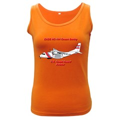 Eads Hc 144 Ocean Sentry Coast Guard Aviator  Women s Dark Tank Top by allthingseveryday