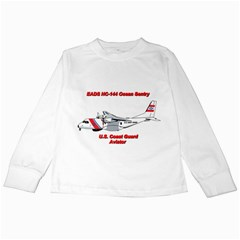 Eads Hc 144 Ocean Sentry Coast Guard Aviator  Kids Long Sleeve T Shirts by allthingseveryday