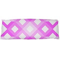 Geometric Chevrons Angles Pink Body Pillow Case Dakimakura (two Sides) by Celenk