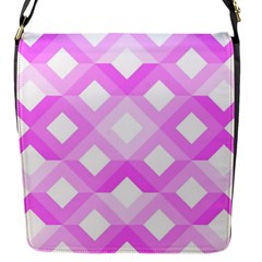 Geometric Chevrons Angles Pink Flap Messenger Bag (s) by Celenk