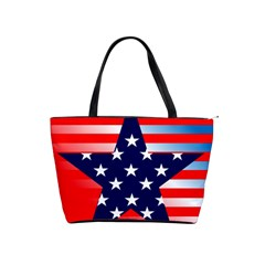 Patriotic American Usa Design Red Shoulder Handbags by Celenk