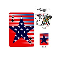 Patriotic American Usa Design Red Playing Cards 54 (mini)  by Celenk