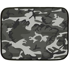 Camouflage Pattern Disguise Army Fleece Blanket (mini) by Celenk