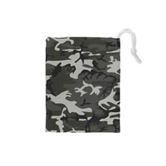 Camouflage Pattern Disguise Army Drawstring Pouches (small)  by Celenk