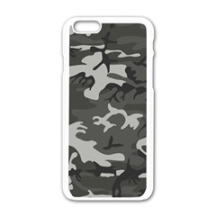 Camouflage Pattern Disguise Army Apple Iphone 6/6s White Enamel Case by Celenk