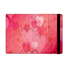 Pink Hearts Pattern Ipad Mini 2 Flip Cases by Celenk