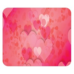 Pink Hearts Pattern Double Sided Flano Blanket (small)  by Celenk