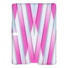 Geometric 3d Design Pattern Pink Samsung Galaxy Tab S (10 5 ) Hardshell Case  by Celenk