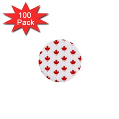 Maple Leaf Canada Emblem Country 1  Mini Buttons (100 Pack)  by Celenk