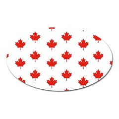 Maple Leaf Canada Emblem Country Oval Magnet by Celenk