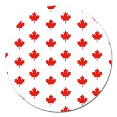 Maple Leaf Canada Emblem Country Magnet 5  (round) by Celenk