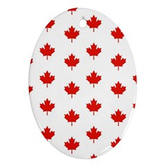 Maple Leaf Canada Emblem Country Oval Ornament (two Sides) by Celenk