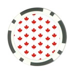 Maple Leaf Canada Emblem Country Poker Chip Card Guard Front