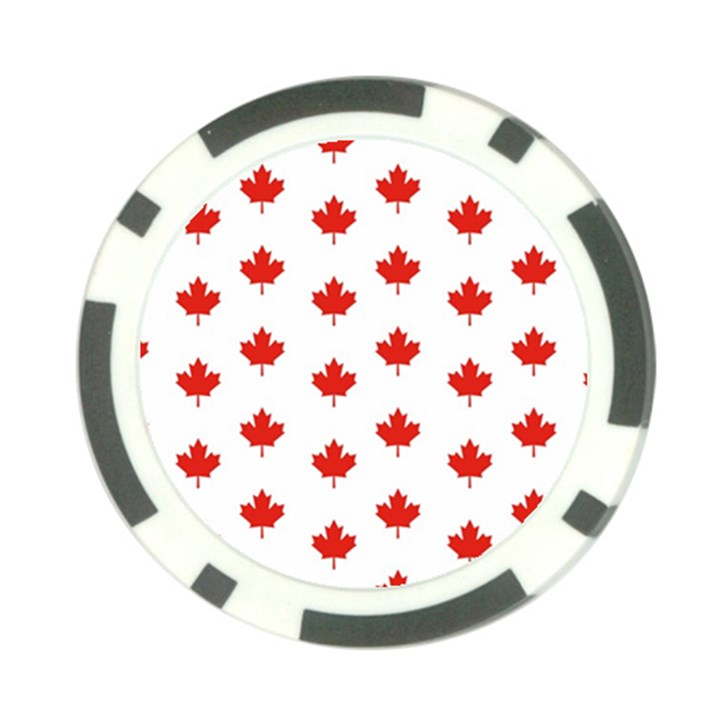Maple Leaf Canada Emblem Country Poker Chip Card Guard