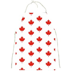 Maple Leaf Canada Emblem Country Full Print Aprons by Celenk